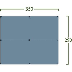 Helsport Bitihorn Superlight Dakzeil 3,5x2,9m, blauw